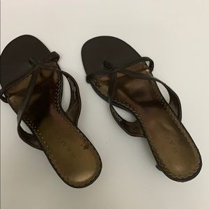 Rampage• Brown Leather Madyson Sandals